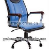 Modern High Back Swivel Leather Office Executive Chair With Wood Armrest XX-091                                                                         Quality Choice