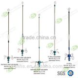 Hospital Medical Infusion Support Transfusion IV Pole Stand for Bed