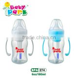 pp baby bottle containers with auto-drinking straw