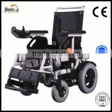 "9"" wheel Brushless folding electric power wheelchair with brushless joystic controller"