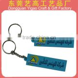 Eco-friendly soft PVC retractable keychain/rubber key chain