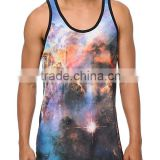 Custom sublimation gym tank tops,sublimated gym singlet,singlet for gym customized tank tops