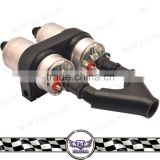 Replacement parts Dual Fuel Pump Billet Y Block Surge Tank Adapter +fuel pump+fuel pump bracket