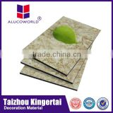 Alucoworld durable acp sheet stone molds cladding interior wall material with reasonable price