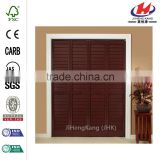 28 in. x 80 in. Louver/Panel MinWax Red Mahogany Solid Wood Interior Closet Bi-fold Door