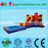 inflatable bouncer and slide with pool