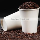Wholesale Custom logo printed Disposable single wall pe coated paper cup blank with sleeves