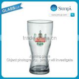 2014 Newly Glass Cascade Draught Logo print provided glass supplier beer pilsner glass cup Narrown bottom pasabahce glass