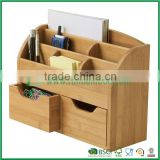 Bamboo office accessories ,drawer organizer ,pen holder cell phone holder
