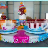 Interesting family entertainment center rotating rides tea cups