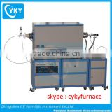 CVD system with 3 zone tube furnace & water chiller for water cooling / cvd tube furnace