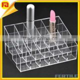 trade assurance 24 Lipstick Acrylic Makeup Organizer Cosmetic Display Holder Case Display Stand