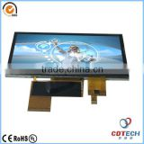 TFT LCD China supplier 5.0'' inch 480*272 resolution transparent tft lcd display module witn touch panel