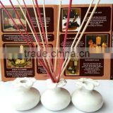Fragrance reed diffuser wooden stick in the craft ceramic bottle