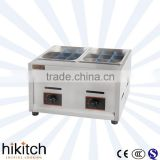 Old supplier wholesale stainless steel LPG gas oden cooker can change to deep fryer machine