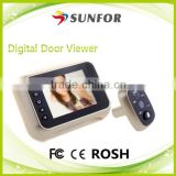 "3.5"" 120 Degree Wide Angle Digital Door Eye Hole Camera Viewer with Recorder"