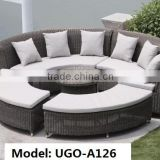 patio furniture factory direct wholesale rattan sofa set UGO-A126