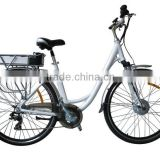 Hot saller700C electric bicycle, lady bike, EN15194 approval, 36V/7Ah Li-ion battery in rear carrier