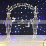 Fancy beautiful wedding arch flower cheap wedding stage decoration backdrops