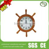 wooden wall clocks,antique wooden ship wheel clock, decorative anchor wooden clock                                                                         Quality Choice