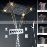 Luxury led color change remote control 304 stainless steel multi function bathroom accessory full body shower systems