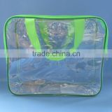 Non-toxic free size PVC blanket packaging bag with zipper                                                                         Quality Choice