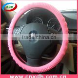 Car accessories pink silicone steering wheel cover for girls
