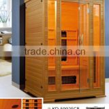 Solid Wood Main Material and Computer Control Panel Feature outdoor sauna room