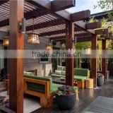 recycled backyard outside hollow composite wood decking wpc decking aluminum pergola gazebo