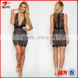 2016 Latest Dress Designs Ladies Sexy Free Prom Nighty Lace Short Dress Picture With Mesh Back