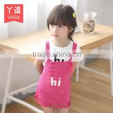 New Style Fashion Korean Cotton Washable Children Casual Skirt Suits, Suspender Skirt for Girls