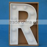 Marquee Sign Wood-plastic composite Led Art Decor Battery Operated Light Lighted Letters 9 Inch