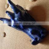 new arrival Natural Gemstone Rock Crystal Hand Carved Animal Decorated Blue Lapis Lazuli Dragon Skull /Skeleton Carvings