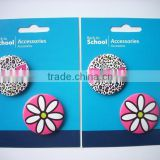 Custom design tin buttons , pin badges 4 piece with back card packaging