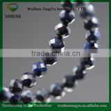 Sapphire dark blue color faceted natural black Sapphire loose stone beads for jewelry