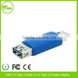 USB 3.0 Type A Female to B Male PC Cable Connector Converter Adapter Blue