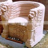lion sculpture handrest single chair bench