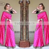 Spruce Magenta Banarasi Silk Saree/Indian sarees online shopping