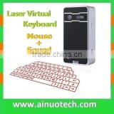 mini laser virtual keyboard mouse projection keyboard bluetooth for smartphone tablet pad build in speaker