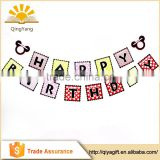happy birthday party banner paper square flag birthday supplies