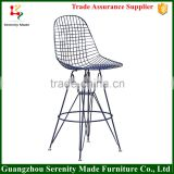 2015 metal wire mesh outdoor bar stool high chair