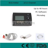 72 hours recording time ECG Holter recorder System Holter monitor Analysis Software high quality