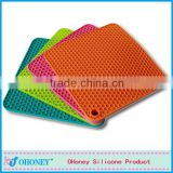 Durable silicone coaster rectangle round silicone mat for pot,baking silicone placement,cooking matting
