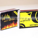Cardboard Safety Matchbox in Wooden and Wax