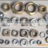 custom industrial nut and washer with spring washer&flat/curved/hexagon bolt nut shape