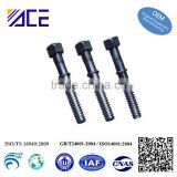 High Quality Machined Knurled Stud Bolt