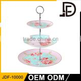 3-tier dessert plate fruit cupcake ceramic plate , cake plate with dome, wedding cake stand