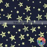 Yarn Dyed Polyester Cotton Jacquard Fabric Cotton Flower Star Printing Bedsheet Cotton Fabrics