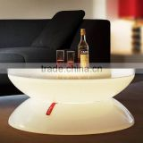 hotel and resorts used led glowing coffee table and sofa sets / Apple shaped plastic table sets