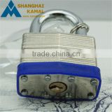 50mm/60mm Keyed different or keyed alike Solid Aluminium Laminated Padlock with hardened chrome-plated steel shackle